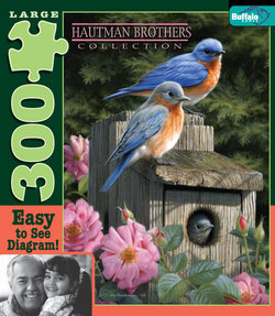 Garden Bluebirds Hautman Brothers Collection 300 Large Piece Puzzle