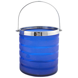 Art Glass Cobalt Ice Bucket Blast