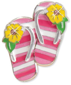 Finders Key Purse Striped Flip Flops Key Finder