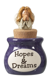 Hopes & Dreams Jar with Angel Topper