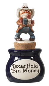 Texas Hold'Em Money Jar with Topper