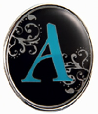 """A"" Monogrammed Key Finder - Finders Key Purse"