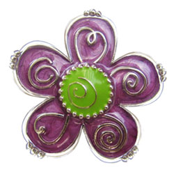 Finders Key Purse Purple Swirl Flower Key Finder *Limited Edition*