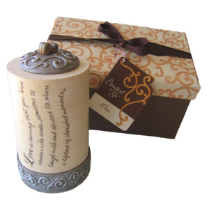 """4"""" Love Comfort-to-Go Candle"""