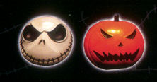 The Nightmare Before Christmas Jack and Pumpkin Magnet Set