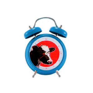 Present Time Cow Sound Alarm Clock