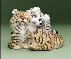 See No, Hear No... Tiger Cubs Stone Critters Figurine