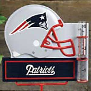 New England Patriots NFL Rain Gauge
