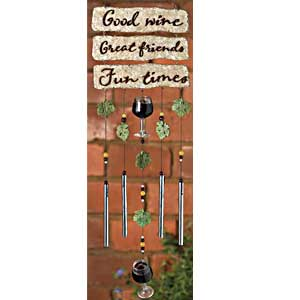 Encore Drink Wine Wind Chime