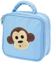 Light Blue Monkey Square Lunch Box by Four Peas