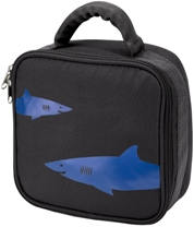 Black Shark Square Lunch Bag by Four Peas