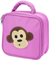 Pink Monkey Square Lunch Bag by Four Peas