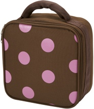 Pink Polka Dot Square Lunch Bag by Four Peas