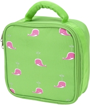 Pink Whale Square Lunch Bag by Four Peas