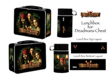 Pirates of the Caribbean Dead Man's Chest Lunchbox with Drink Container
