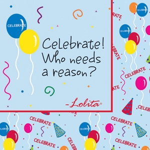 Lolita Celebrate Beverage Napkins