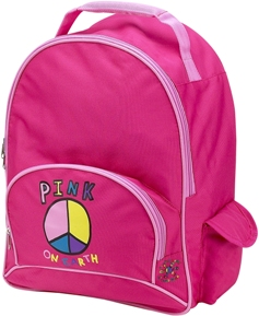 Pink On Earth Full Size School Backpack by Four Peas
