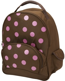 Pink Polka Dot Full Size School Backpack by Four Peas