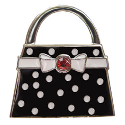 Finders Key Purse Black Polka Dot Purse Key Finder