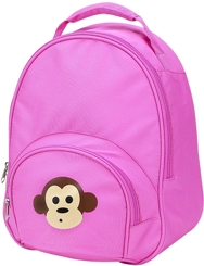 Pink Monkey Toddler Preschool Backpack by Four Peas