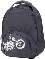 Gray Motorcycle Toddler Preschool Backpack by Four Peas