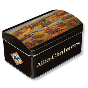 Allis-Chalmers Delivering to the Farmers Metal Hinged Dome Tin