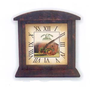 John Deere Square Wooden Desk Clock