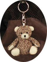 Baby Teddy Bear Keychain by Sock Monkey