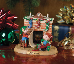 Teamwork Jingle Elves Vignette-Retired