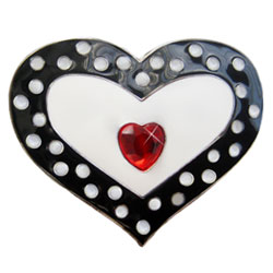 Finders Key Dotted Heart Red Jewel Purse Key Finder