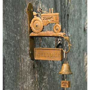 John Deere Rustic Welcome Sign with Bells