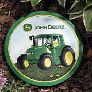 John Deere Tractor with Roof Garden Stepping Stone