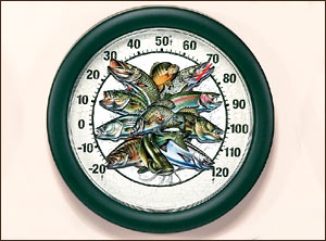 "12"" Multi Fish Thermometer Jon Q. Wright"