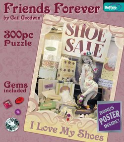 I Love My Shoes Friends Forever 300 Piece Puzzle by Gail Goodwin