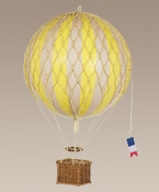 True Yellow Large Hanging Hot Air Balloon Royal Aero by Authentic Models