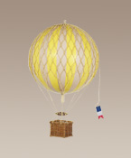 Yellow Medium Hanging Hot Air Balloon Travels Light