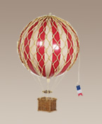 Red Medium Hanging Hot Air Balloons Travels Light
