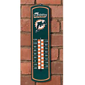 Miami Dolphins NFL Large Wall Thermometer
