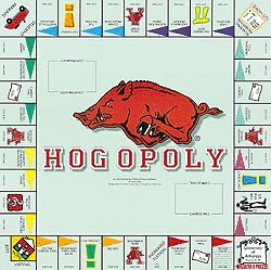 Hogopoly Arkansas Monopoly Style Board Game