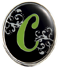 """C"" Monogrammed Key Finder - Finders Key Purse"