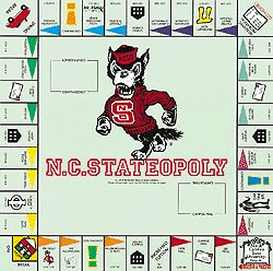 North Carolina StateOpoly Monopoly Style Board Game