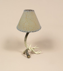 Faux Deer antler table lamp