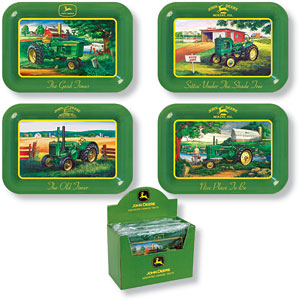 John Deere Tractors Metal Change Trays