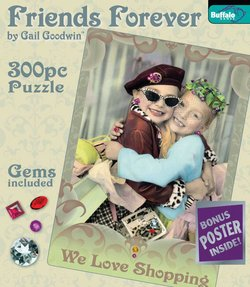 We Love Shopping Friends Forever 300 Piece Puzzle by Gail Goodwin