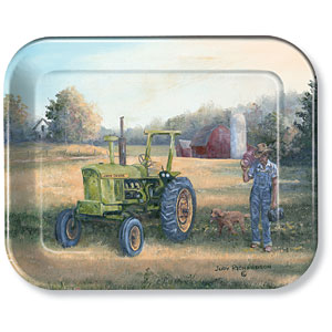 Lunch Time John Deere Metal Tray