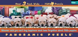 Little Puppies 750 Piece Panoramic Puzzle