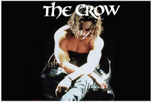 The Crow Pillow Case Arms Crossed with Guitar