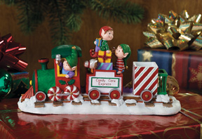 Candy Cane Express-Train Jingle Elves Vignette-Retired
