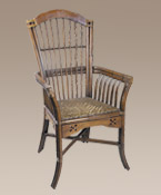 Rattan Cane Fireside Chair