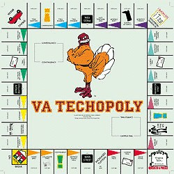 Virginia TechOpoly Monopoly Style Board Game